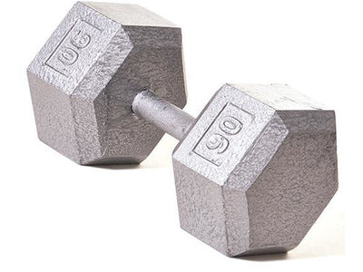 Hex Dumbbell w/ Straight Handle 90 lb