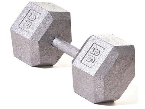 Hex Dumbbell w/ Straight Handle 95 lb