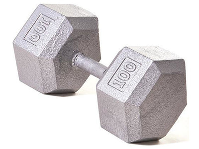 Hex Dumbbell w/ Straight Handle 100 lb