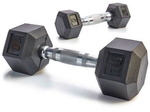 Image of Rubber Hex Dumbbell Set (5-50 lb.)