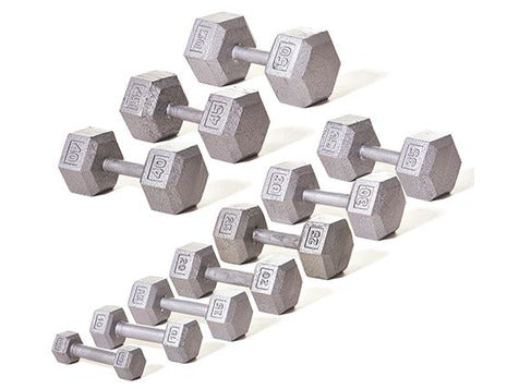 Hex Dumbbell Set (5-50 lb.)