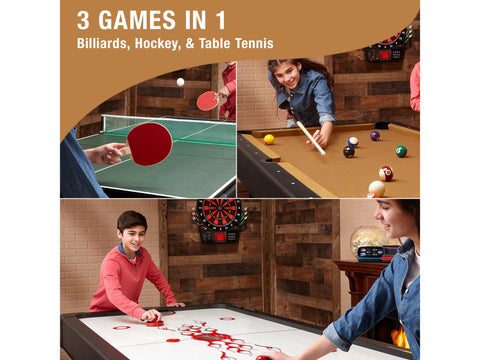 Fat Cat Original 3-in-1 7' Pockey Multi-Game Table Tan