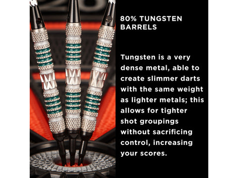 Image of Viper Astro 80% Tungsten Soft Tip Darts Green Rings 18 Grams