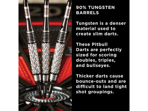 Image of Viper Pitbull 90% Tungsten Soft Tip Darts Diamond Cut Barrel 18 Grams