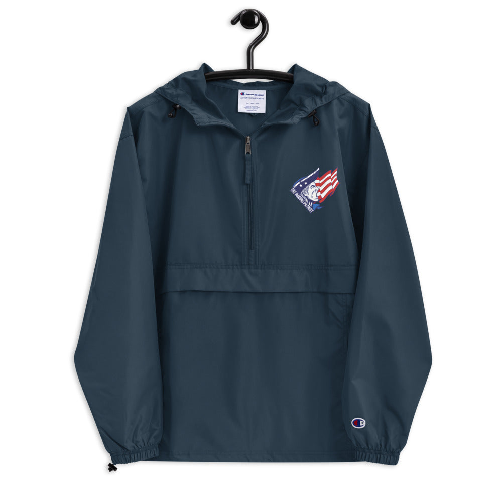 The Raging Patriot Embroidered Champion Packable Jacket