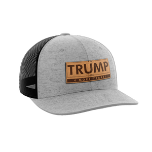 Donald Trump 4 More Years Leather Patch Hat