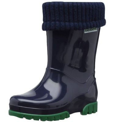 Term Welly with rolltop sock - Blue