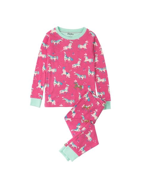 Hatley Playful Horses Organic Cotton Pyjamas