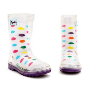 Squelch Socks - Spots. One Size ages 3-6.