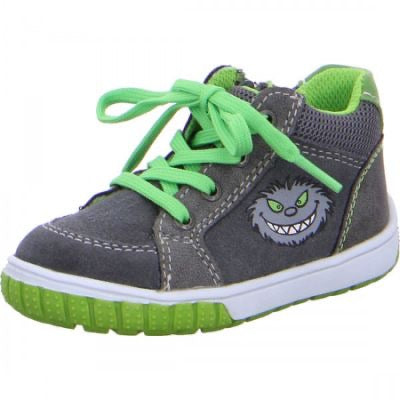 Lurchi Beo Monster Motif Trainer Grey/Green