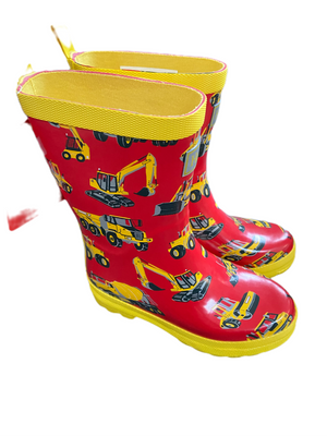 Hatley Red / Yellow Tractor Wellies