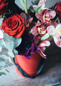 Hat Box with Roses