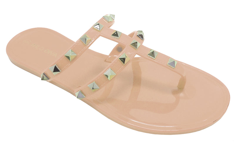 JOANIE-245 DOUBLE-STRAP ANKLE STRAPPY DESIGNER JELLY SANDALS
