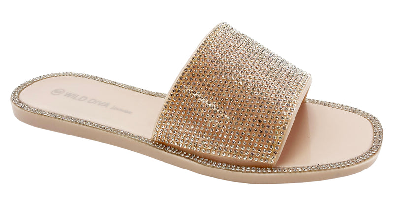 JACELYN-01 RHINESTONE BLING STYLISH SANDALS
