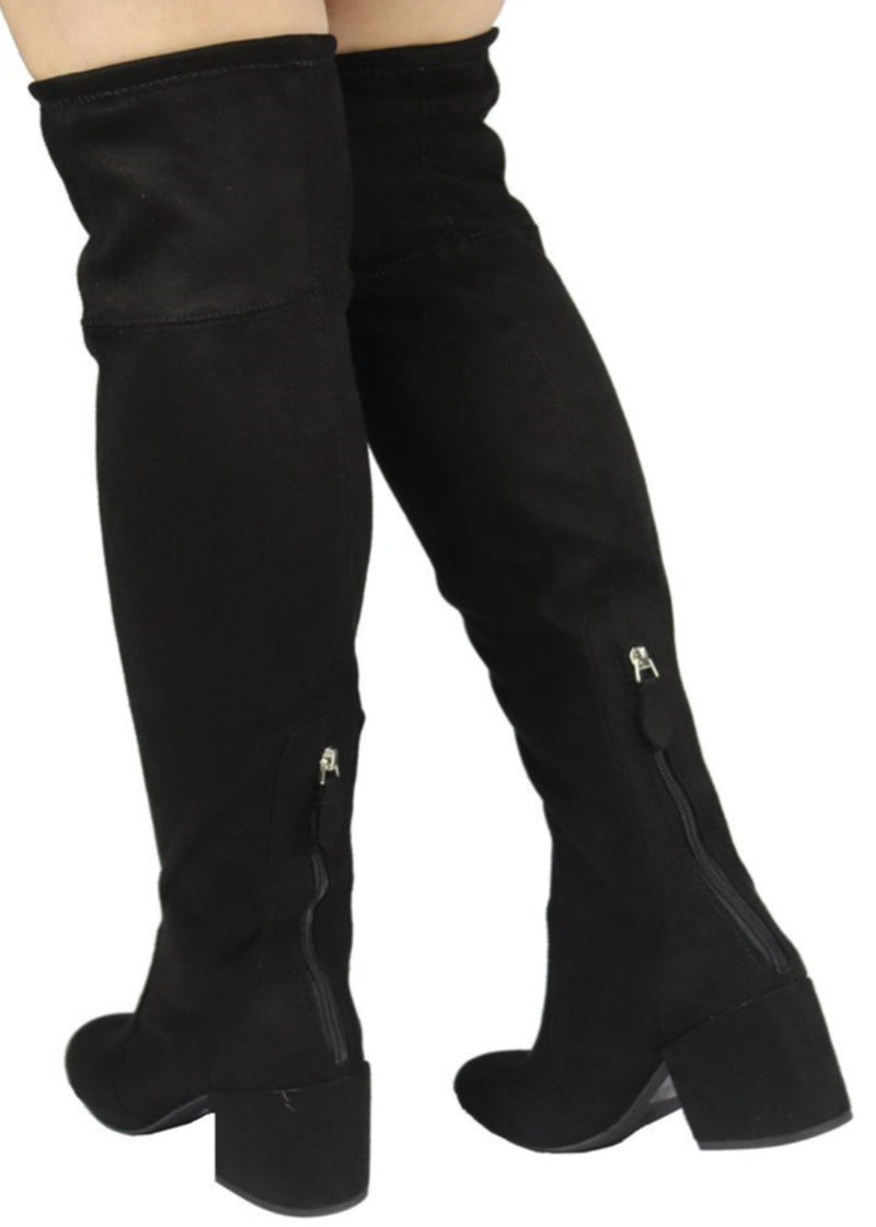 ADA-33 CHUNKY HEEL KNEE HIGH BOOTS