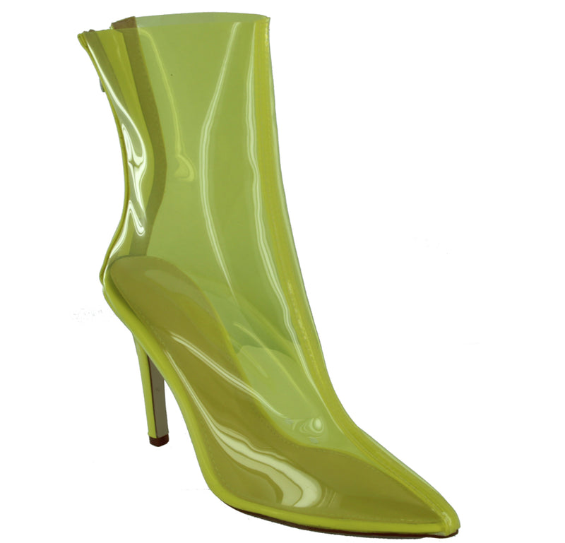 GISELLE-40 TRANSPARENT POINTED TOE HIGH HEEL BOOTS