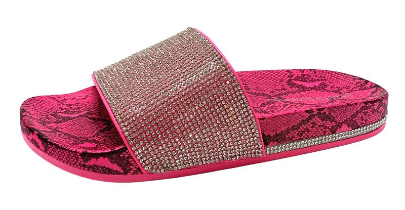 MARTY-04 RHINESTONE SLIDES