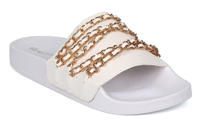 MATTY-22 CHAIN UP SLID SANDALS