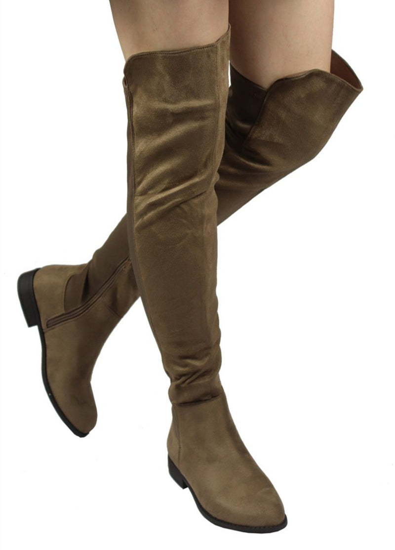 OKSANA-132 FAUX SUEDE OVER THE KNEE HIGH BOOTS