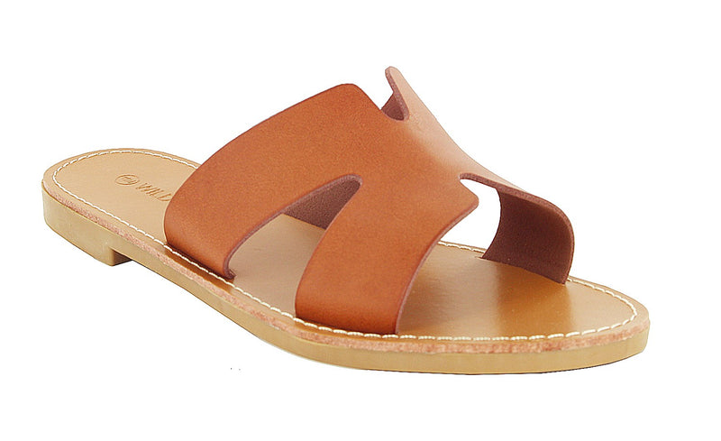 ROSE-04 Faux Leather Sandals