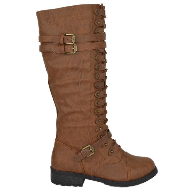 Timberly-65 Combat Stylish Knee High Boots