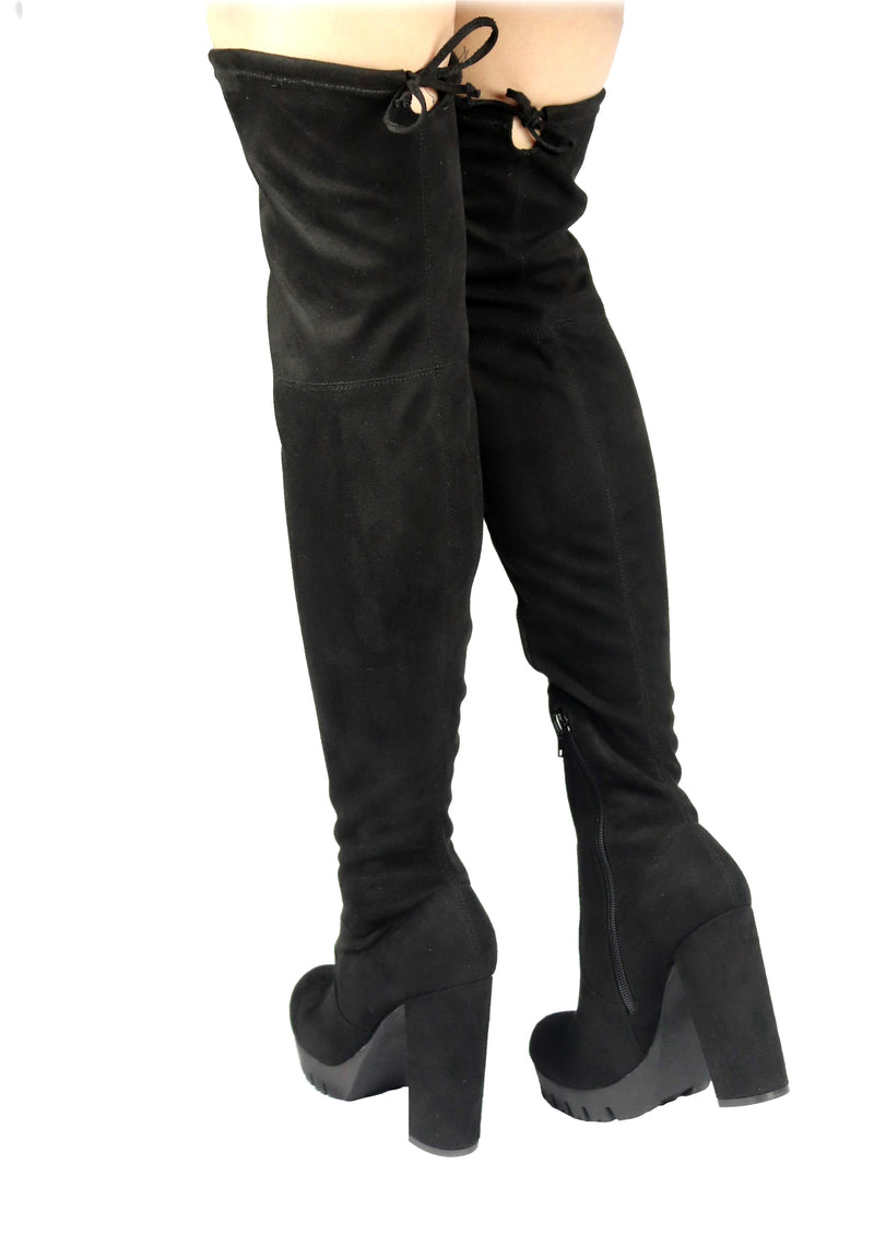 VERONICA-46 PLATFORM CHUNKY HEEL THIGH HIGH BOOTS