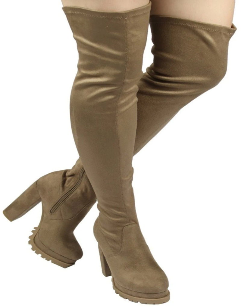 VIVIAN-21 CHUNKY HEEL THIGH HIGH BOOTS