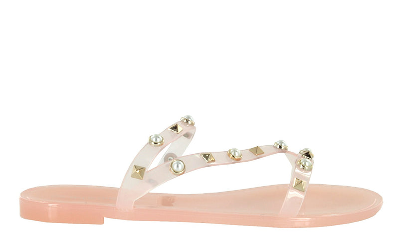 JOANIE-204 FLAT JELLY SLIDES SANDALS