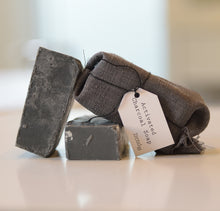 Load image into Gallery viewer, Organic activated charcoal soap bar