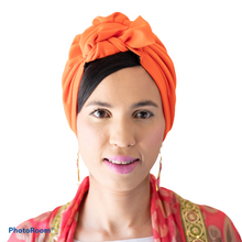 Load image into Gallery viewer, Orange Turban
