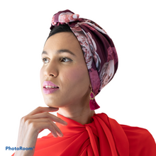Load image into Gallery viewer, Printed Magenta Turban