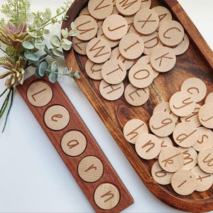 Wooden Disc Set | Alphabet