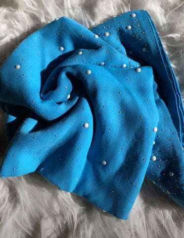Blue Studded Viscose