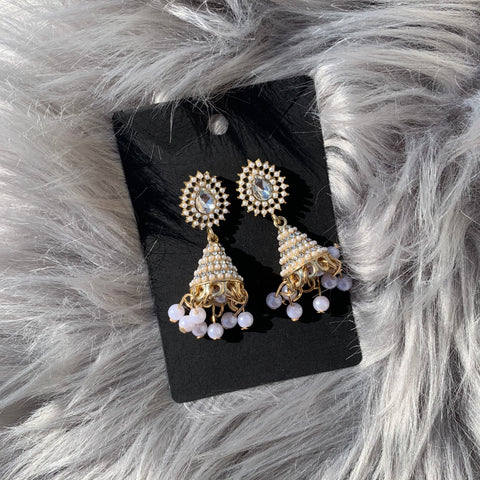 Pearlescent Gold Jhumkas