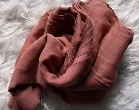 Dusty Rose Plain Viscose