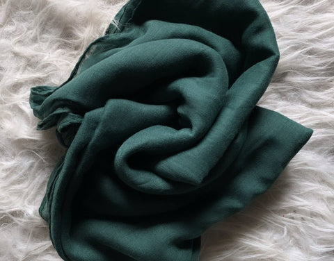 Forest Green Plain Viscose