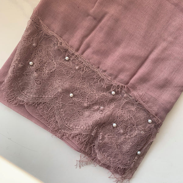 Lavender Pink Lace Pearl