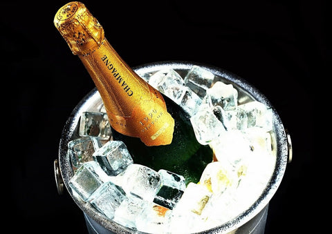 Chilled Champagne Bottle