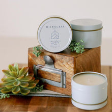 Load image into Gallery viewer, Succulent Garden 4oz Tin - Milkglass candle