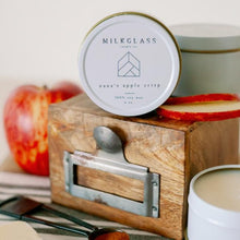 Load image into Gallery viewer, Nana's Apple Crisp 4oz Tin - Milkglass candle