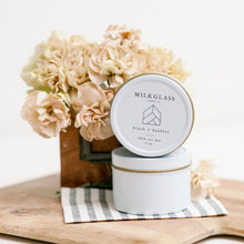 Load image into Gallery viewer, New - Blush + Bashfull - Milkglass candle