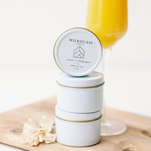 Load image into Gallery viewer, New - Citrus + Champagne - Milkglass candle