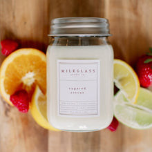 Load image into Gallery viewer, Sugared Citrus 16oz Jar - Milkglass candle
