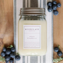 Load image into Gallery viewer, Sweet Blueberry 16oz Jar - Milkglass candle