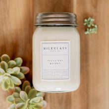 Load image into Gallery viewer, Succulent Garden 16oz Jar - Milkglass candle