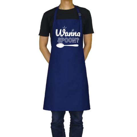 Wanna Spoon? - Funny Aprons