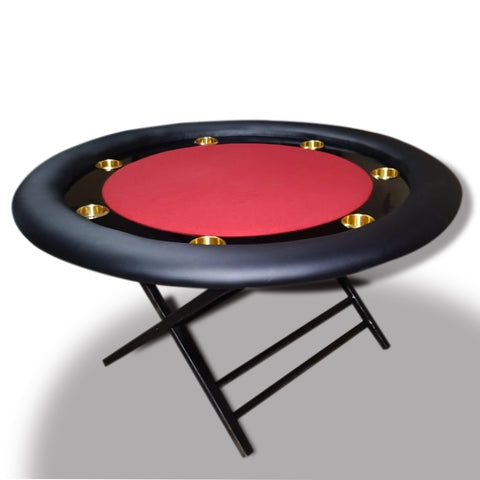 round poker table with foldable legs