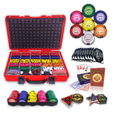 500 poker chips set with denomiation