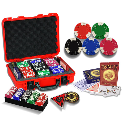 blank poker chip set
