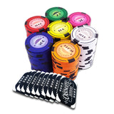 500 poker chips with denomination